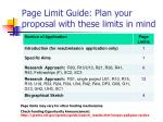 page limit guide plan your proposal with these limits in mind
