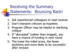 receiving the summary statements bouncing back