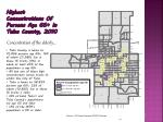 highest concentrations of persons age 65 in tulsa county 2010