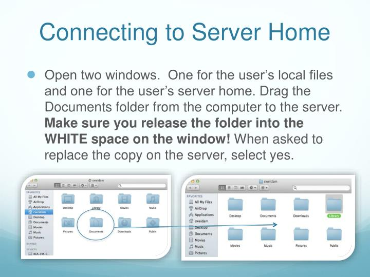 Connecting to Server Home