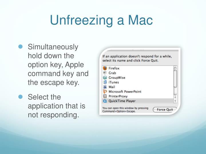Unfreezing a Mac
