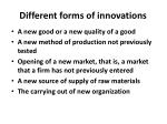 different forms of innovations