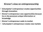 kirzner s view on entrepreneurship
