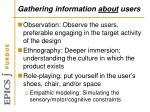 gathering information about users