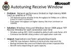 autotuning receive window
