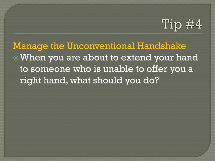 Tip #4