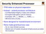 security enhanced processor