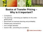 basics of transfer pricing why is it important