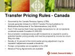 transfer pricing rules canada