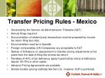 transfer pricing rules mexico