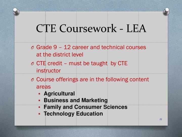 CTE Coursework - LEA