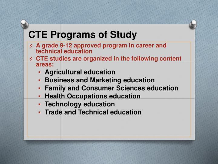 CTE Programs of Study