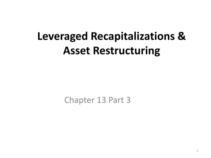 sealed air leveraged recapitalization Let us create the best one for you what is your topic.