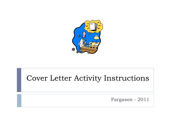 cover letter activity instructions n.