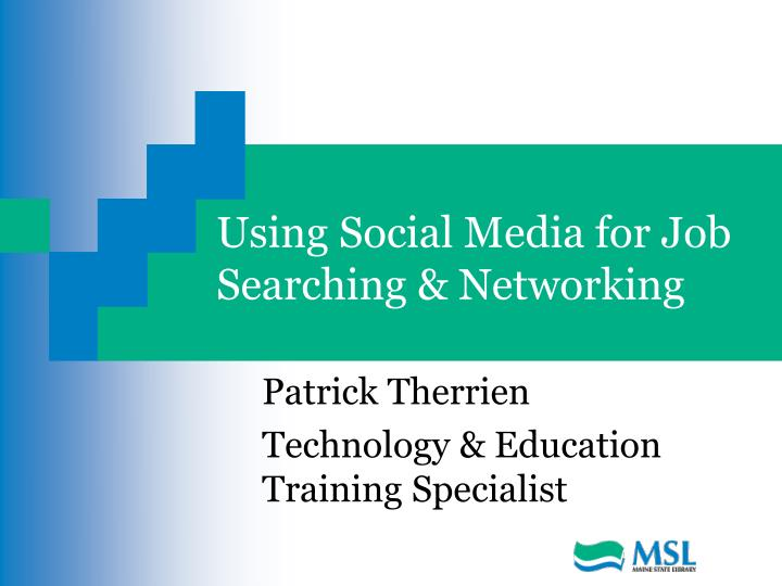 using social media for job searching networking n.