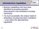 administrative capabilities