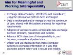 aim for meaningful and working interoperability