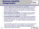 business capability categorization