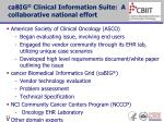 cabig clinical information suite a collaborative national effort