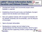 cabig clinical information suite iteration and release process