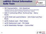cabig clinical information suite team
