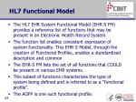 hl7 functional model
