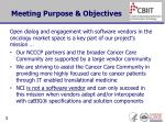 meeting purpose objectives