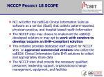 ncccp project 18 scope