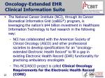 oncology extended ehr clinical information suite