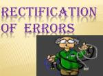rectification of errors