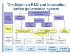 the estonian r d and innovation policy governance system