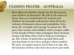 closing prayer australia