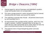 bridge v deacons 19841