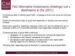 f c alternative investments holdings ltd v barthelemy ors 2011