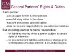 general partners rights duties