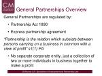 general partnerships overview