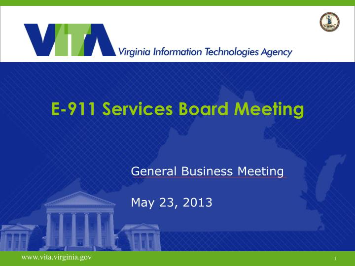 e 911 services board meeting n.