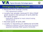 emergency grant request