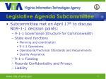 legislative agenda subcommittee