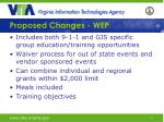proposed changes wep