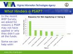 what hinders a psap