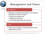 management and vision