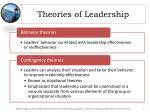 theories of leadership1
