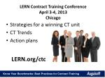 lern contract training conference april 3 4 2013 chicago