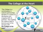 the college at the heart
