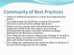 community of best practices
