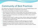 community of best practices1