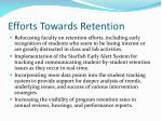 efforts towards retention