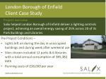 london borough of enfield client case study