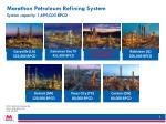 marathon petroleum refining system
